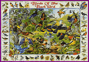 White Mountain Puzzles Birds of the Backyard - 1000 Piece Puzzle