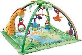 Fisher Price Deluxe Melodies and Light Jungle Gym Playmat