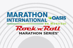 Dossard marathon/ demi Rock'n Roll Oasis montreal 23 septembre