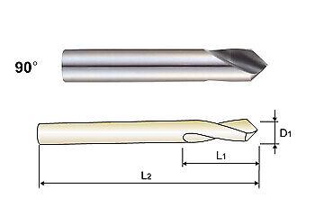 12 90 Degree Hssco8 M42 Cobalt Nccnc Spot Drill Part Number 0321l Yg-1