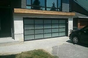 Contemporary Aluminum garage doors *BEST PRICE* - FREE QUOTE oak