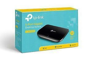 TP-LINK TL-SG1005D 10/100/1000MBPS PORT GIGABIT DESKTOP SWITCH, 10GBPS CAPACITY - NEW $39