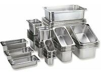 used wide asortment of vouge stainless steel and plastic gastros full list below