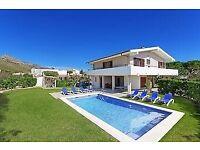 Beautiful villa in puerto pollensa , Majorca for 6-8 people