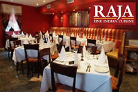 Multiple Positions Available  - Raja Fine Indian Cuisine