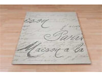 NEXT FRENCH SCRIPT RUG (120cm-170cm)