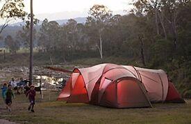 Large Katmandu Family Tent 7- 8 person (5 rooms) + Camping Shelves