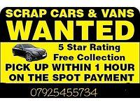 WANTED CARS FOR CASH FREE COLLECTION