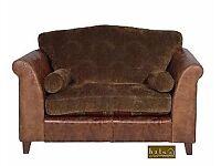 Halo Hastings Leather & Tartan Armchair / Love / Snuggle Seat Wanted or Tweed Armchair