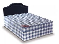 Brand New 4FT6 Double Bed Set ( Eco Bed & Mattress ) with Fast Free Delivery