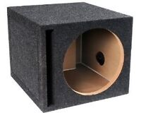 "Looking for a 12"" subwoofer enclosure (just the box)"