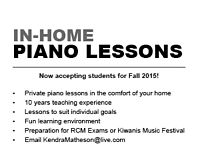 In-Home Piano Lessons