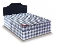 Brand New 4FT6 Double Light Quilt Bed Set - Fast Delivery