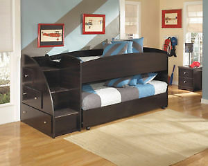 EMBRACE CHILDREN LOFT/TRUNDLE BUNKBED ASHLEY