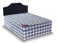 Brand New 4FT6 Double Light Quilt Bed Set (Base & Mattress) With Fast Delivery....