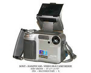Mint Sony CCD-SC55 Video8 Hi8 8mm Stereo Camcorder Bundle,Extras