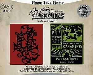 Sizzix Tim Holtz  Merry Christmas & Vintage Holiday emboss set