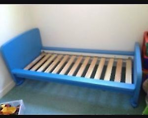 Ikea Mammut Blue Bed