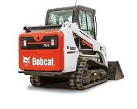 """T450 BOBCAT COMPACT TRACK LOADER C/W 50"""" TOOTH BUCKET FOR RENT"""