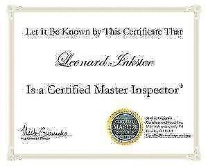 HOME INSPECTIONS BY A CERTIFIED MASTER INSPECTOR