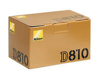 Nikon D810 new in box (0) shutter Count