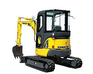 Komatsu PC35MR Mini Excavator for sale.
