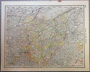 Rand mcnally map ebay vintage rand mcnally map gumiabroncs Choice Image