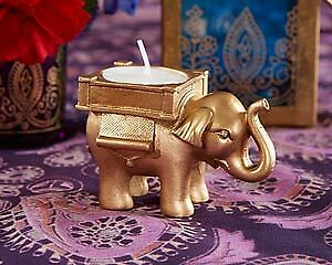 Luxury Wedding Decor Gold Lucky Elephant Gift/Favor!