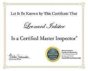 MOLD INSPECTIONS BY CERTIFIED MASTER INSPECTOR