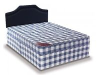 Brand New 4FT6 Double Light Quilt Bed Set ( Base & Mattress) With Fast Delivery....