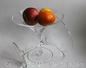 Pair of Oversized Crystal Martini Glasses/Serving Bowls