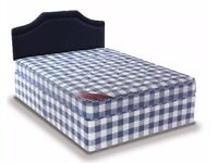 Brand New 4FT6 Double Eco Bed Set ( Bed & Mattress ) with Fast Free Delivery