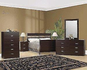 6 PCS SLEIGH BEDROOM SET