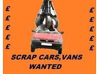 WE WANT YOUR CARS VANS TIPPERS MPVS ATVS 4X4 CARAVANS CONVERTIBLES SCRAP MOT FAILURE NON RUNNER