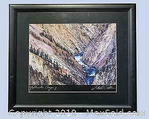 Stephen Patterson Yellowstone Canyon limited edition photo, s/n