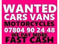 Ò78Ò4 9Ò2448 WANTED CARS VANS FOR CASH SCRAP BUY YOUR SELL MY SCRAPPING best