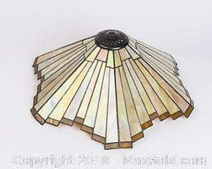Large Stained Glass Lamp Shade, or for Ceiling Mount Fixture cover