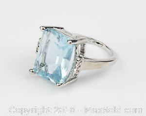 Size 9 Table Cut S925 Blue Ring