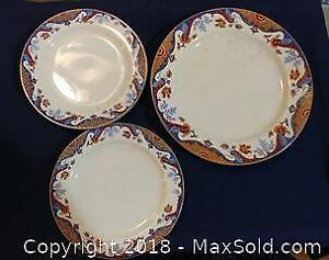 Three Antique Ridgeway Plates