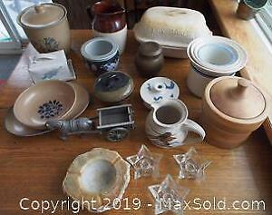Pottery and Related Items Including Pfaltzgraff