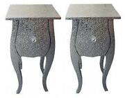 Silver Bedside Table