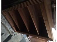 Pine Bookshelf unit - good condition - £50
