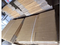 400 x FLAT PACKED STRONG HEAVY DUTY CARDBOARD BOXES - BRAND NEW - JobLot