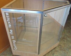 Display case with key