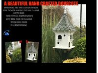 Hand made bird houses/Dovecote and feeders