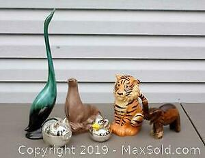 Decorative Animal Figures and Coin Banks