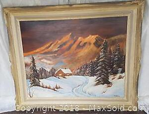 Original Oil Painting on Board by M. Shier