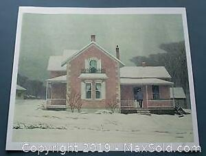 A. J. Casson Pink Farm House Group of Seven, limited edition, s/n