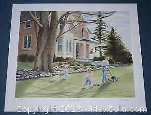 """Anne Cote """"Daddy's Helpers"""" limited edition print, Publisher's Proof s/n"""