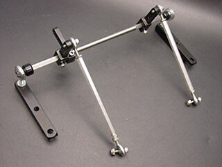 Chevy Ford Plymouth Dodge 6 cylinder inline dual carbs carburetor linkage kit